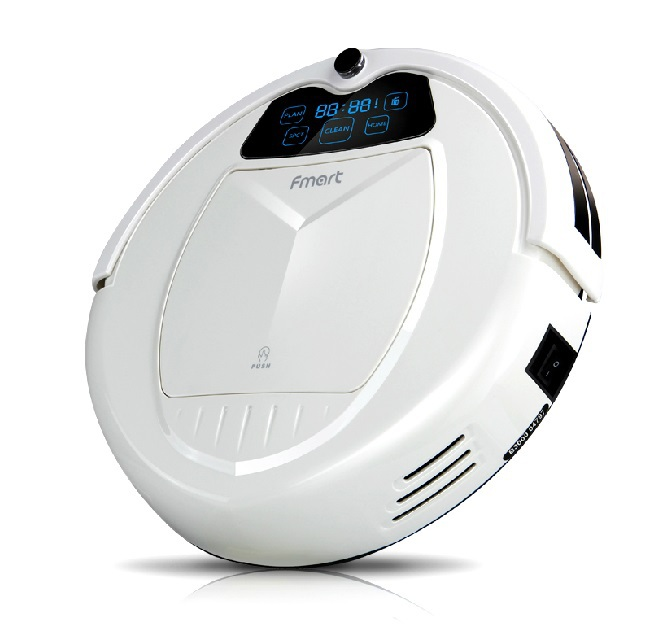 LED wireless mini robot vacuum cleaner for home or office washing swivel sweeper floor cleaning robot(China (Mainland))