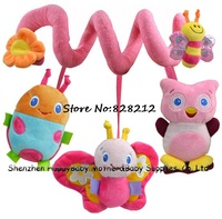 Novelty Infant Mobile Toys Baby Music Plush Crib Bed Hanging Multi-touch Multifunction Children Bed Circle&Bed Round 3pcs/lot