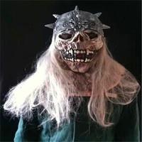 Latex mask skull devil wigs props