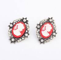YXSP1573       2014 new fashion   Retro temperament human head    earring for women