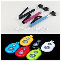 Hot Selfie Monopod Stick Extendable Handheld +Clip Holder+Bluetooth Camera Shutter Remote Controller for iPhone Samsung Phone