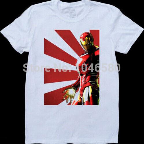 2014 brand new fashion mens/women t shirt Tribute to Marvel Comics Iron Man Tony Stark Mens Custom Made TShirt design print tee(China (Mainland))