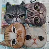 Korea Cat wallet /coin purse/card bag /cosmetic bag  cartoon animal print bag kids gift promotion bag wholesale 10 pcs/lot