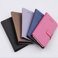 2014 New Fashion 1 PCS for iphone 6 6g Flip Wallet Case Cover Wiredrawing Case PU Leather Stand Case with Card Holder 5 Colors