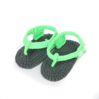 Handmade 100% Cotton Crochet Baby Boy Girl Footwear Crib Shoes Free Shipping(3 pairs/lot) 4 Colors