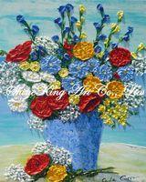 Handmade  Abstract Flower Oil Painting On Canvas Modern Art  Home Decor  DF1019 40x50cm