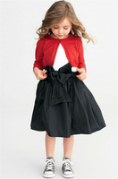 New 2014 Autumn baby &kids clothing girls Boutique a buckle knit cardigan sweater 6pcs/lot