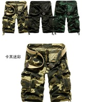 2014 Hot Selling New Brand Men Camouflage/Camo Cotton Loose Cargo Military Shorts Outdoor Running Overall Pants 29-38