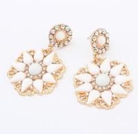 YXSP1593       2014 new fashion   Sunflower fashion shine     earring for women