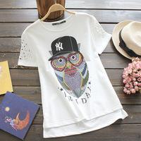 2014 Summer women t shirts atacado roupas femininas  Fashion tops for women clothes 3 size ,2 colors