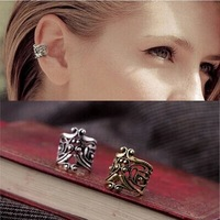 Fashion vintage U shape engraved alloy clip earrings