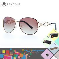AEVOGUE with Original case brand Luxury fashion polarized Sunglass women Rhinestone Decoration Glasses Polaroid lens AE0143