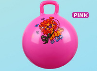 Free shipping 2014 new arrival10 inch handle bell ball multicolour ball Eco-Friendly Colorful Soft Ball Baby Funny Toys DDW-C014