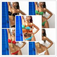 Hot Sale!!! Brazilian World Cup Hot lady bikini sets chain hoist style bikini sexy women swimwear wholesale hot beach swimwears