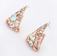 YXSP1600       2014 new fashion   Half full arc punk triangle   earring for women
