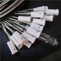 50pcs High quality and durable lamp holder G4 20cm lamp ceramic lamp foot line Crystal Light lamp cord plug socket G4