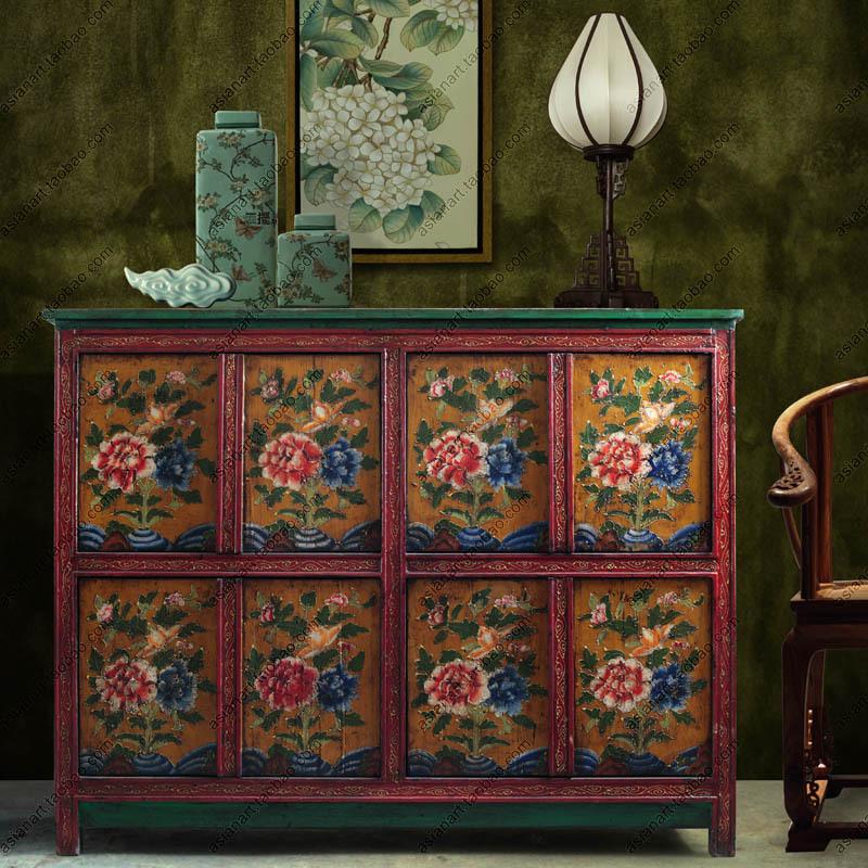 Online kopen wholesale tibetaanse kasten uit china tibetaanse kasten groothandel - Oude meubilair dressoir ...