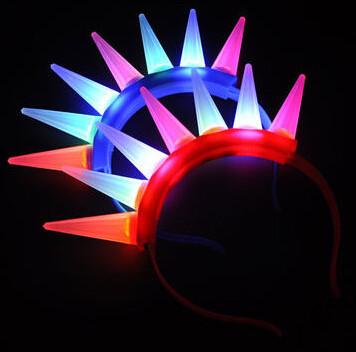 15pcs/lot Goddess LED flashing headhopper light headhoop led headwear for party decoration(China (Mainland))