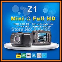 "Novatek NT96220 Car DVR Recorder Z1 With 1.5"" LCD 1920*1080P 25FPS 140 Degree Wide Angle G-Sensor Car Black Box Free Shipping"