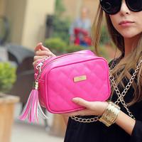 Cat bag 2014 small fresh candy color tassel small bag chain bag messenger bag handbag women's m67-005