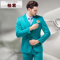 men suits with vest business wedding suits Male multicolour set slim blue men's formal dress men's clothing