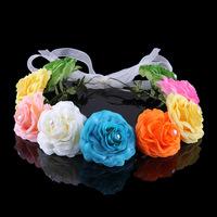 2014 Hot Floral Adult Women Hairbands Acetate Headband Female Flower Garland Headdress bridal accessories wedding flowers