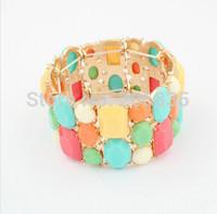 o Free Shipping Colorful Cnady Bracelet Fashion Bangle Men/Women/girl's Bangel Bohemian Resin Vintage Bracelet Bangel