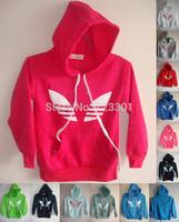 12 colors!Shampooers child sweatshirt boys & girls hoodie sweater male female children sport clothing outerwear baby fleece coat
