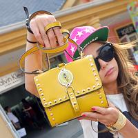 Cat bag 2014 fashion punk rivet bag shoulder bag handbag women's handbag m18-049