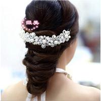 The bride hair bride headdress Pure manual imitation pearl diamond wedding accessories the bride adorn article