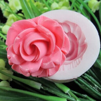1PC rose silicone fondant cake molds soap chocolate mould for the kitchen baking
