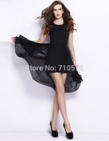 New 2014 summer casual dress European simple and elegant dress sleeveless women one piece dress free shipping