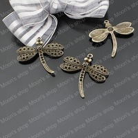 (22315)Alloy Findings,charm pendants,Antiqued style bronze tone Dragonfly 10PCS