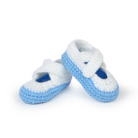 Retail 3 Pairs a lot Newborn Baby Boy Girl Crochet Shoes Infant Handmade Crib Shoes Footwear 4 Colors