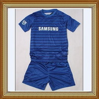 Free Shipping!!!14/15 Chelsea Home Kids Blue Soccer Jersey, Embroidery logo Chelsea Kids Uniform,Children soccer jersey