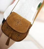 2014 Bohemia woman messenger bag handmade shoulder bag for lady tassel button small bag fashion  lady's bag ZCB8129