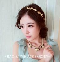 14wholesale Fashion big flower with braid leather beach photograghy headband popular hair accessories
