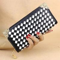 Fashion new hand bag ladies wallet zipper color long purse