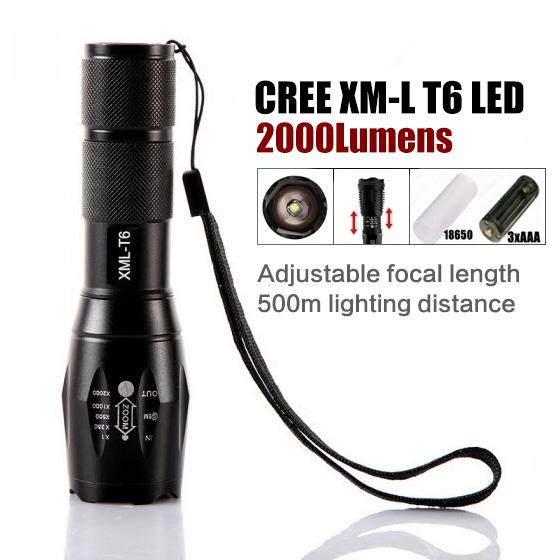 Фонарик Ultrafire E17 T6 Cree Xml 2000 18650 CREE T6 ручной фонарик ultrafire x8 t6