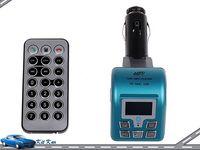 Bluetooth Car MP3 Player wireless FM transmitter Bluetooth car kit with remote control support TF USB WMA FM