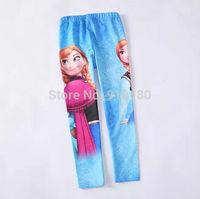 6pcs/lot 2014 new baby cartoon frozen girls Anna Elsa leggings kids pants children's spring pantyhose trousers
