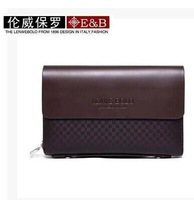 Promotion !! 2014 High Quality Genuine Leather Men's wallet Fashion Commercial Man Clutch Bag/leather purse Free Shipping