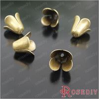 (23861)Free Shipping Wholesale 10*12MM Antique Bronze Iron Bead Caps Speaker 100PCS