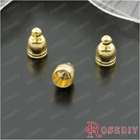 (27807)Cord End Caps for Leather Cord and Suede Leather Tassel Charms Making inside:5MM Gold Copper Wire Caps 50PCS