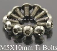 12pcs Ti Titanium Bolts M5x10mm Screws Disc Rotor Brake Button Head