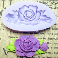 1PCS resin flower silicone fondant cake molds soap chocolate mould for the kitchen baking Free shipping