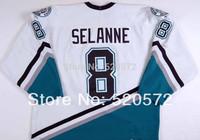 Kids Boys Youth -Teemu Selanne #8 Jersey Mighty Ducks Jerseys Anaheim Hockey 1998-99 - Custom Jersey  (XXS-6XL)