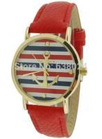 100pcs/lot,hot Brand New Promotion Geneva Zebra Anchor watches Unisex Fashion Leather wrist Watch For man Women Quartz Watches