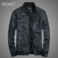 Spring male leather clothing male slim stand collar coat short design  fashion PU motorcycle leather jacket outerwear