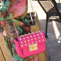 Cat bag 2014 fashion punk rivet bag cross-body bag small women's handbag shoulder bag m51-016